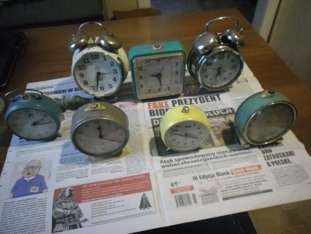 Zegarki mechaniczne- budziki , do naprawy lub na części.