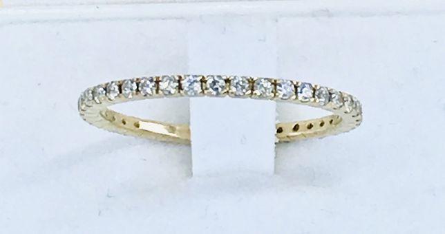 Złoty pierścionek rozmiar 16