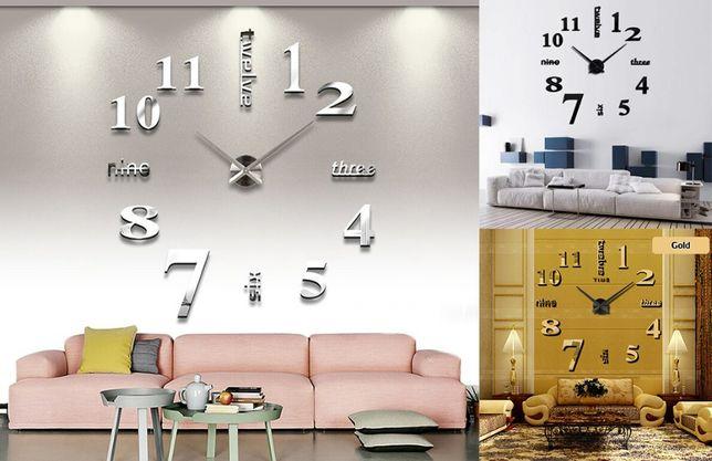 Большие настенные 3Д часы 70-150см Original DIY Clock Слова 3цвета