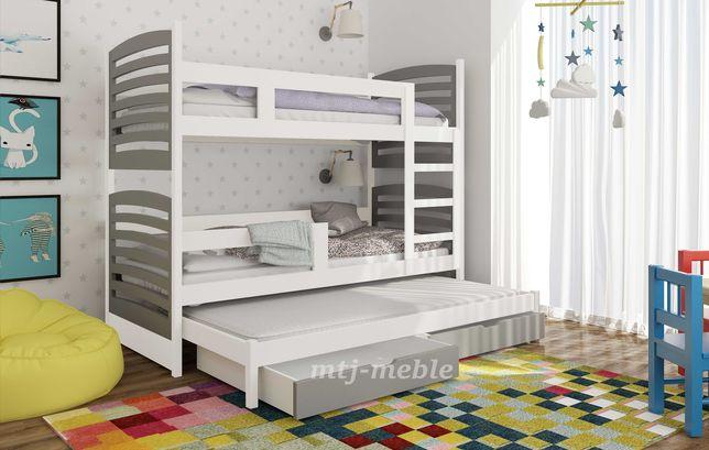Nowe łóżko Olek trzy osobowe! Trzy materace w zestawie!