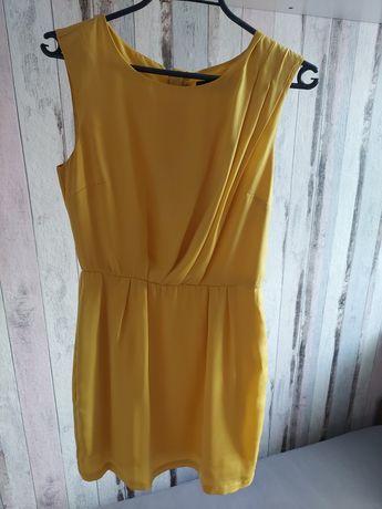 Zwiewna żółta sukienka Reserved 34