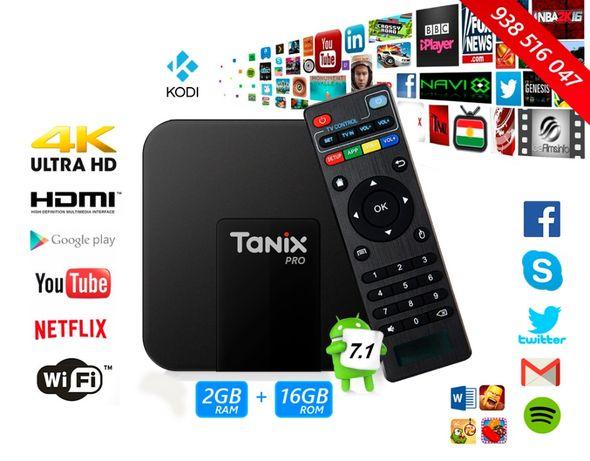 Smart TV Box 4K Android Tanix TX3 Mini TV Box 2GB RAM + 16GB ROM