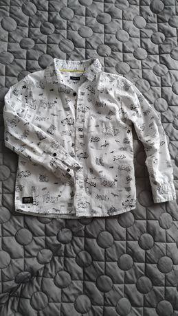 Reserved koszula chłopięca biała wzory 122 cm