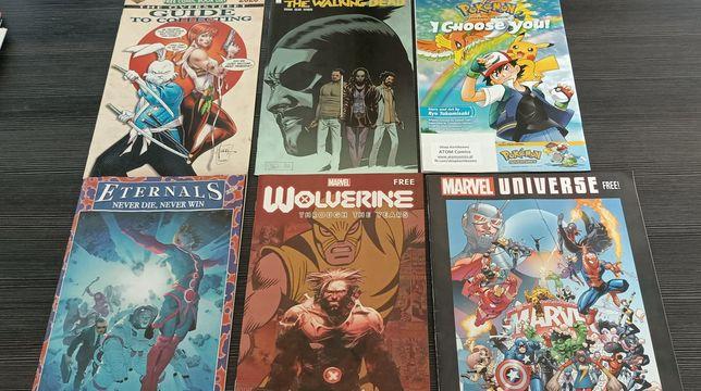 Komiksy Marvel Walking Dead Pokemon  Star Wars Eternals Wolverine XMen