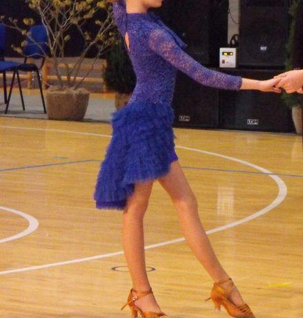 Taniec towarzyski sukienka LA  latino ,łacina 140-155 niezdobiona