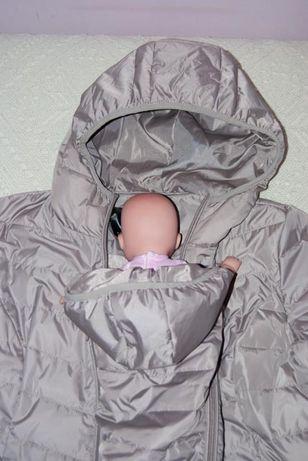 płaszczyk ciążowy, również z wkładką dla niemowlaka, rozmiar 40 stan i