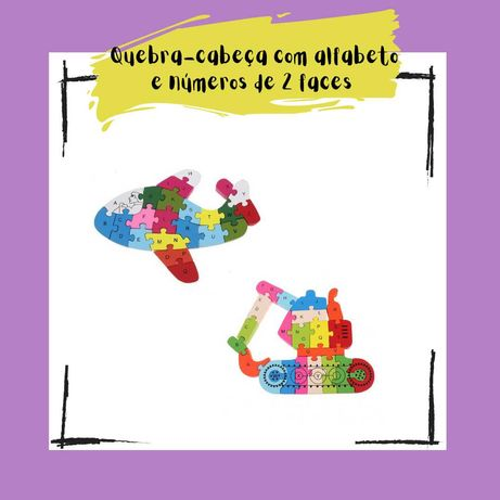 Puzzle de números e letras