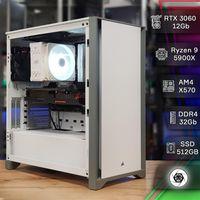 Мощь! Сборка ПК: RTX 3060, Ryzen 9 5900X, X570, DDR4 32Gb, SSD 512Gb