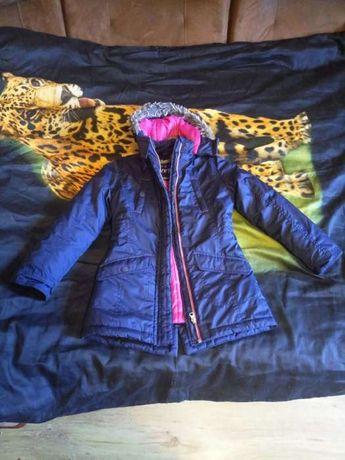 куртка, парка, на девочку 8, 9 лет, стильная, привезена из Германии