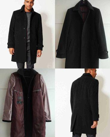 Мужское шерстяное пальто Mark&Spencer