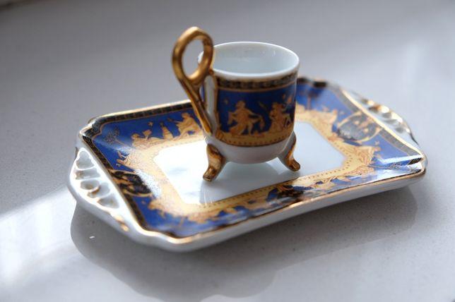 Zabytkowa porcelana Wenecja wenecka dzbanek tacka talerz