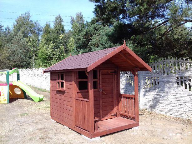 Drewmax-Domek dla dzieci z tarasem Transport PL