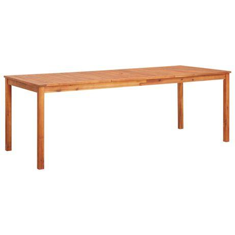 vidaXL Mesa de jardim 215x90x74 cm madeira de acácia maciça 45963