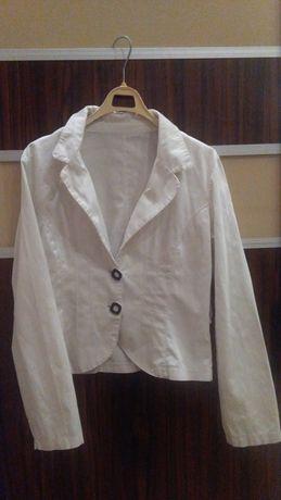 Biały żakiet marynarka + pasek r 38 spódnica za 9zl