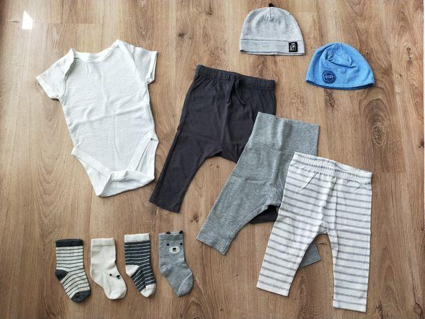 Rozmiar 68 body krótki rękaw h&m legi zara joggersy spodnie