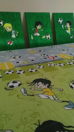 Colcha futebol - quadros oferta
