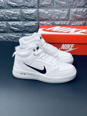Nike air Force Af1 Зимние кожаные кроссовки ботинки Найк Эйр Форс Топ