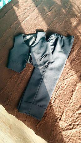 Spodnie na kant + kamizelka