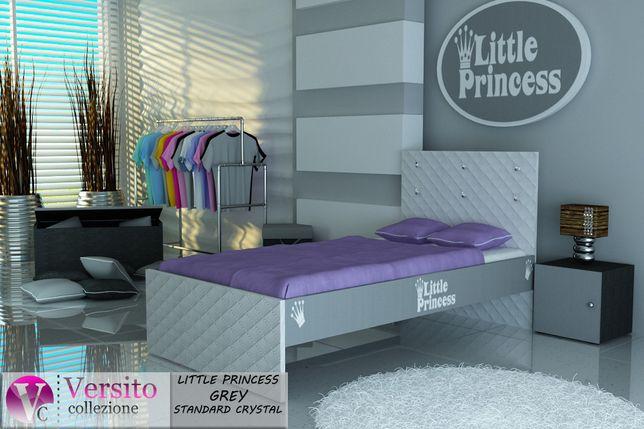 Łóżko dla dziecka z napisem Little Princess. Kryształy, dziecięce