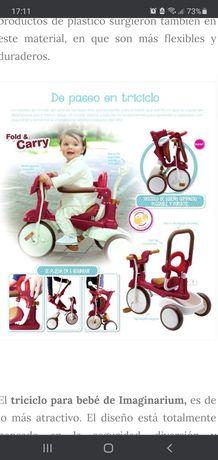 Triciclo,passeio para bebé,e criança adaptável acompanha o crescimento