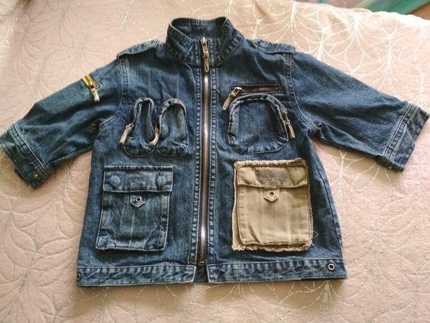 Świetna kurtka chłopięca r. 86/92 jeans