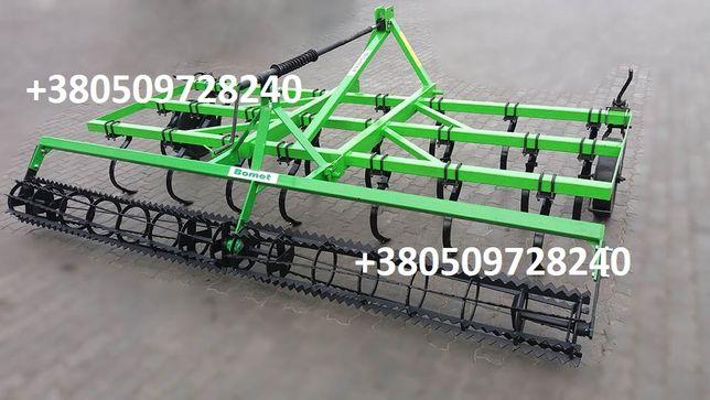 Культиватор сплошной обработки 2,5 м 14 стрел лап каток на подшипниках