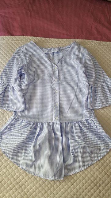 Koszula baby blue niebieska kratka S