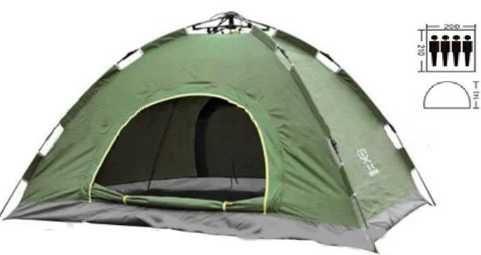 Автоматическая палатка 2, 4, 6 местная. Три цвета. Кемпинг