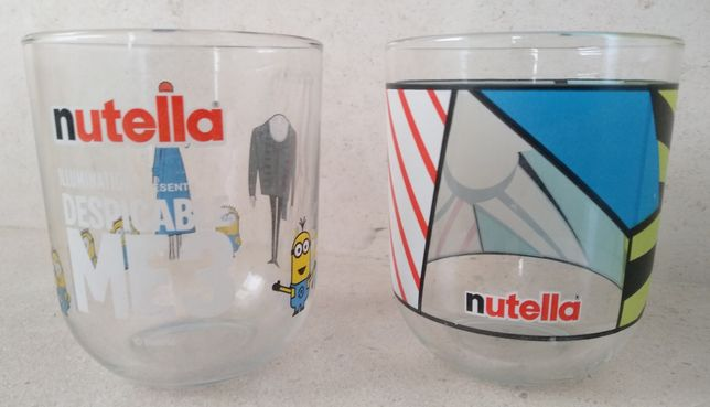 2 copos de vidro da Nutella