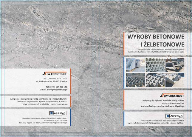 Rury betonowe elementy infrastruktury drogowej kręgi betonowe wpusty
