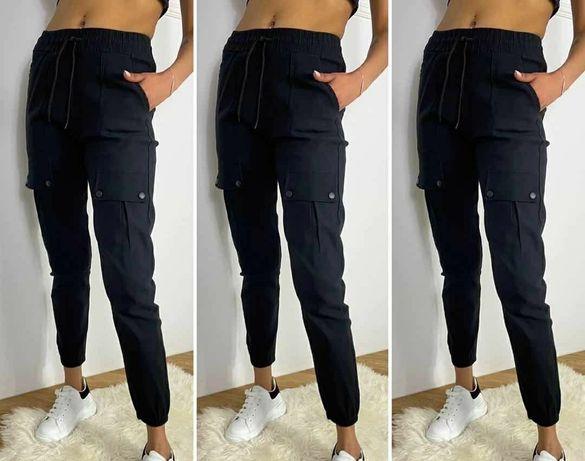 Bojówki spodnie damskie modne hit z kieszeniami Nowe najmodniejsze