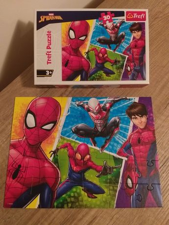 Puzzle 3+, Spiderman, 30 elementów, stan bdb