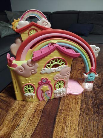 Zestaw domek + zjeżdżalnia my little pony