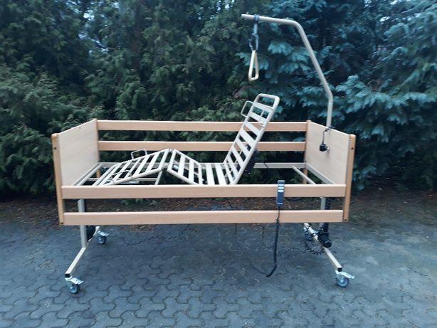 Łóżko rehabilitacyjne, ortopedyczne z barierkami i pilotem Thuasne