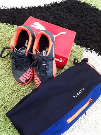 Buty puma 30 spodnie dresowe zestaw piłkarza