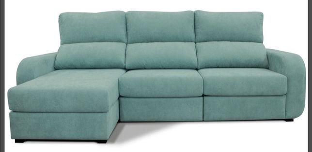 Sofá chaise longue convertível em cama esquerda