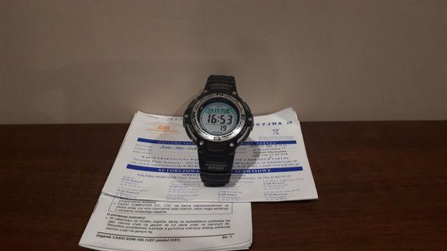 STAN IDEALNY - Zegarek Casio SGW-100 (dowód zakupu, gwarancja)