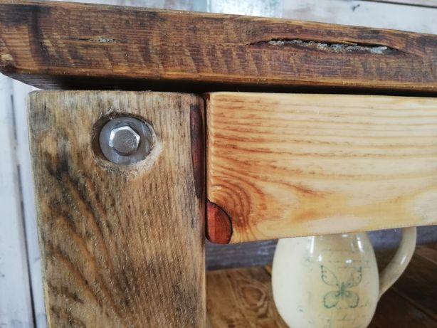 Drewniany regał, komoda. Praca ręczna.