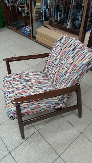 Fotel PRL, po całkowitej renowacji