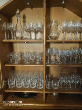 Conjunto completo de copos cristal puro