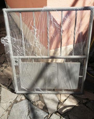 Portão ferro / porta exterior cinzento uma folha