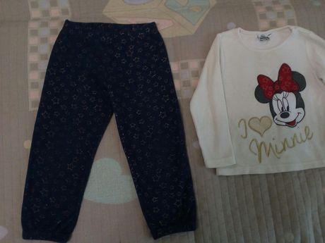 Флисовые штаны Disney 98р. ( Флисовая кофта в ПОДАРОК!)