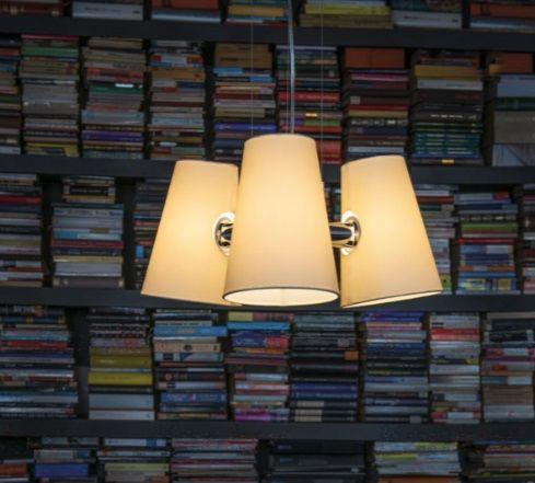Lampa wisząca chrom + klosz materiał tekstylny Kanlux Lupe 24001