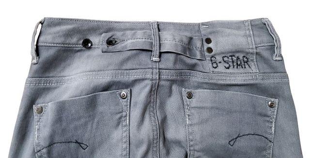 Spodnie G-Star jeansowe szare rozm. 25/32
