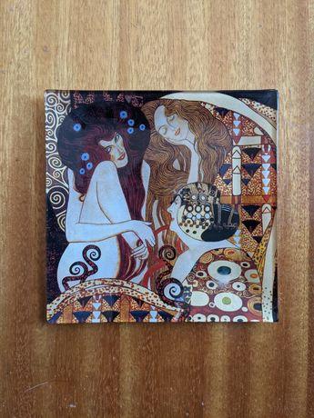 Talerzyk tacka podstawka na świecę biżuterię Klimt secesja