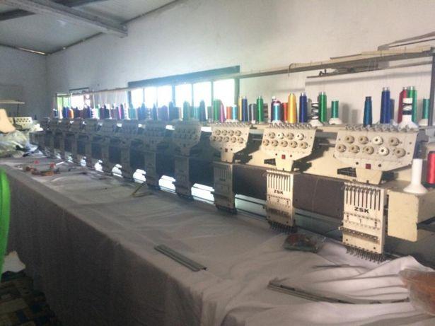 Máquina industrial de Bordar de 12 cabeças ZSK