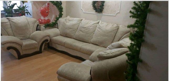 СРОЧНО!! Диван +2 кресла (Есть возможность покупки по отдельности)