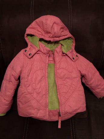 Komplet zimowy kurtka zimowa spodnie narciarskie 2-3 lata 92-98