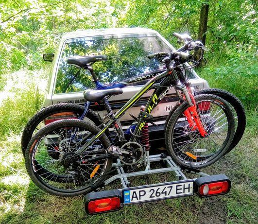 Велобагажник на авто, крепление велосипедов на фаркоп (прокат)