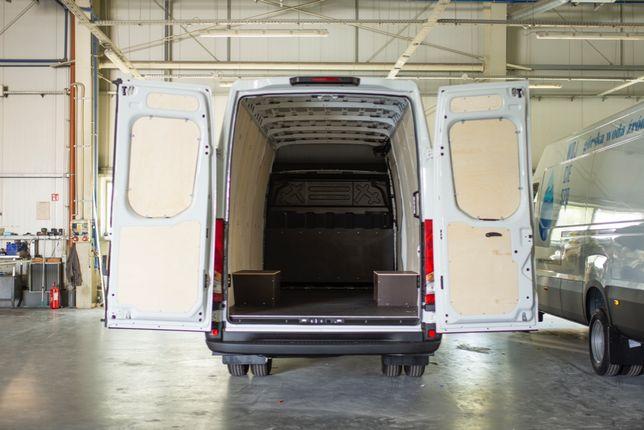 Zabudowa busa furgonu Renault Master L4H2 zabudowa sklejka